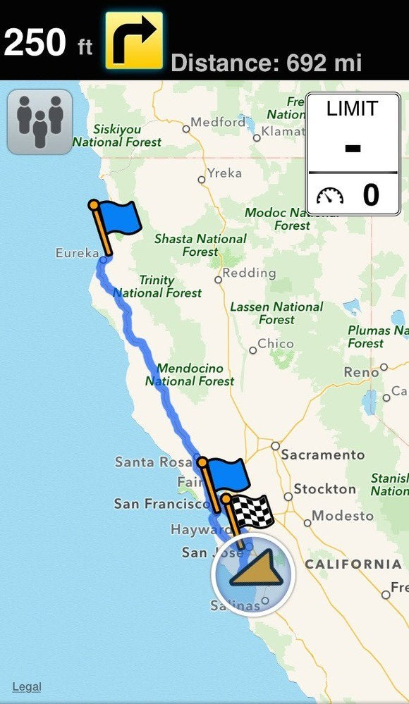 How to create multi destination map routes on your iphone macworld motionx gps drive is a less expensive way to go about it gumiabroncs Choice Image
