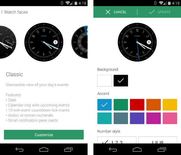 Moto 360 Customize Face Designs