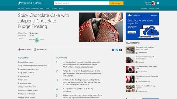 msn food and drink recipe Microsoft