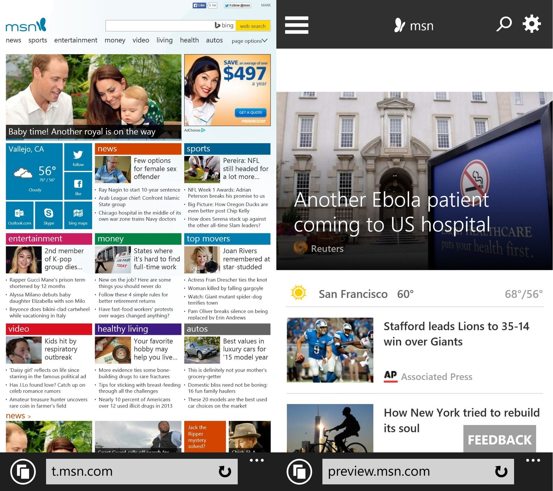 Microsofts MSN redesign seems less like Metro more like Googles