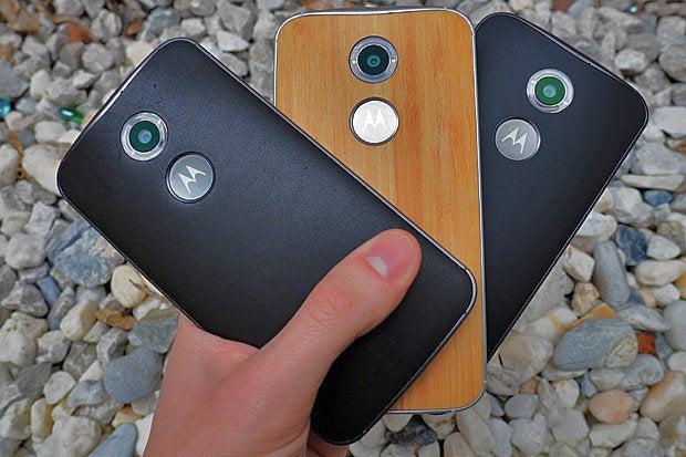 New Moto X Leather Wood Plastic