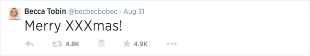 Becca Tobin tweet