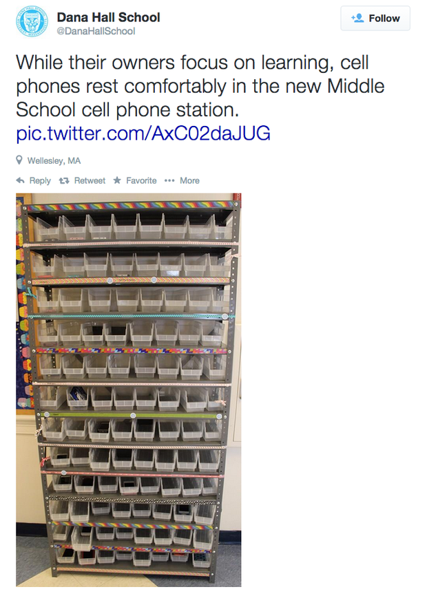 Nothing says Welcome Back to School like a shiny cellphone station