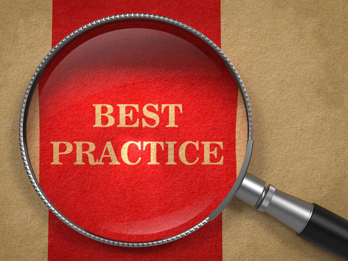 Best practices are guidelines, not instructions