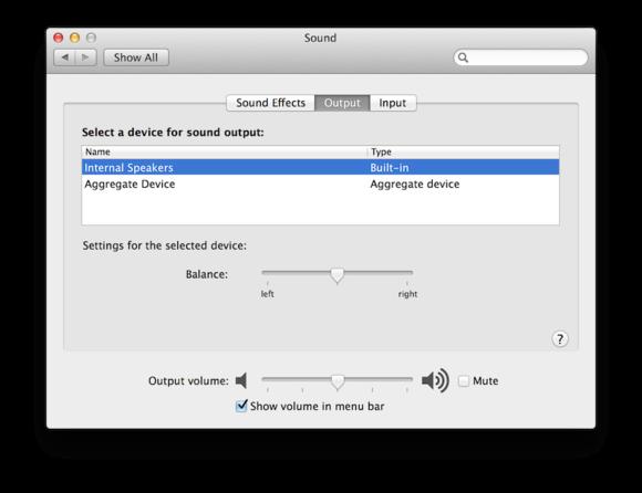 sound system preferences