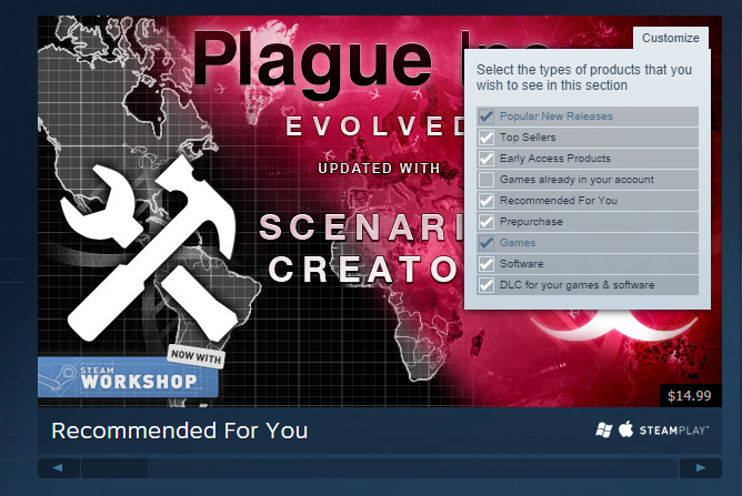 Massive Steam 'Discovery update' makes it easier to find games you