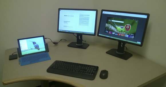 Microsoft surface pro 3 multimon setup