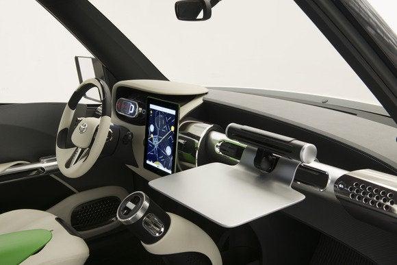 toyota u2 concept interior desk