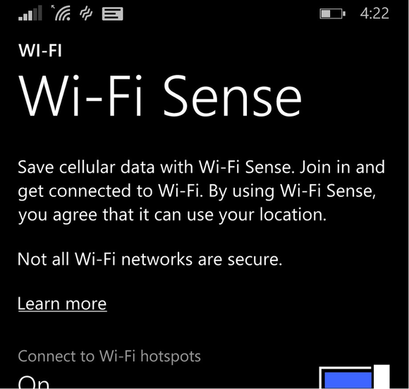 wifi sense crop Microsoft Windows Phone