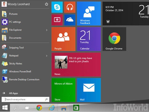 Win10 Start menu: Welcome to the future