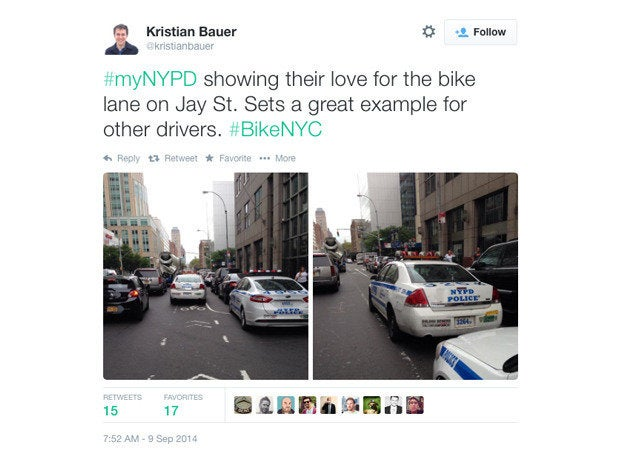 05 nypd hashtag reaction