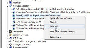 Uninstalling 1110 Ethernet Drivers