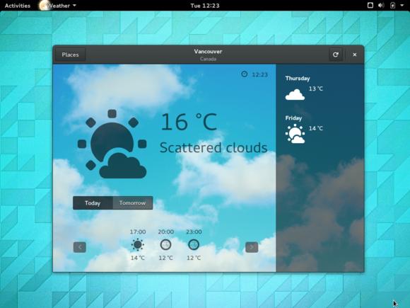 2 gnome 3.14 weather app