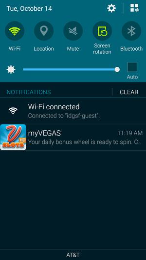 notifications shade