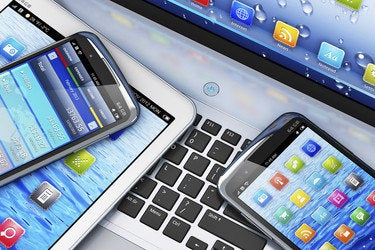 laptop tablet smartphone multiple mobile devices