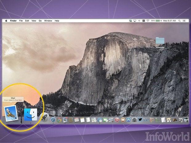 OS X Yosemite Handoff
