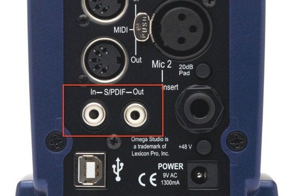 audio interface closeup
