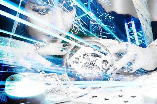 crystal ball business prediction data woman