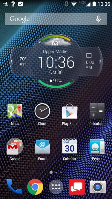 Motorola Droid Turbo status widget (Android smartphone)