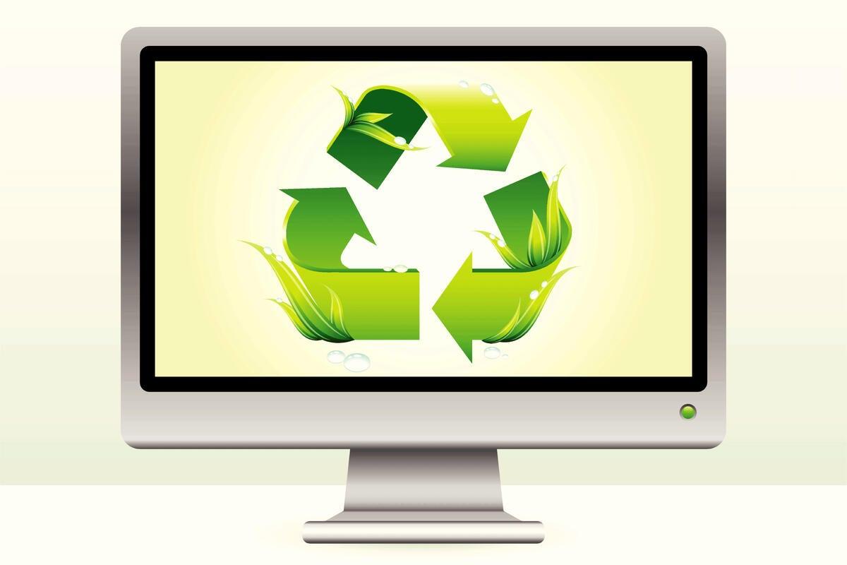 Environmentally-friendly, energy-saving monitor