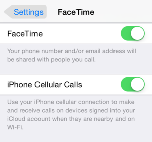 facetime handoff option