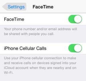 facetime handoff option