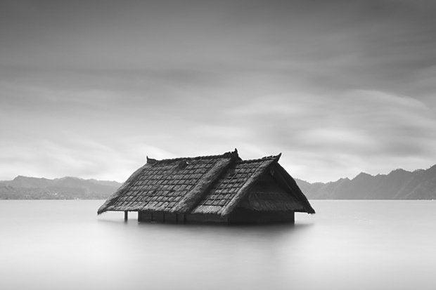 flooded shack