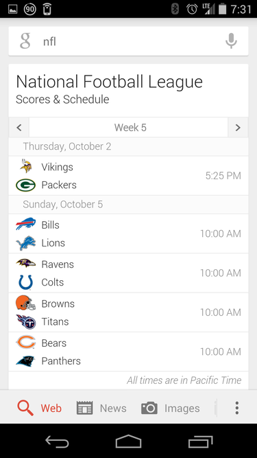 google now league