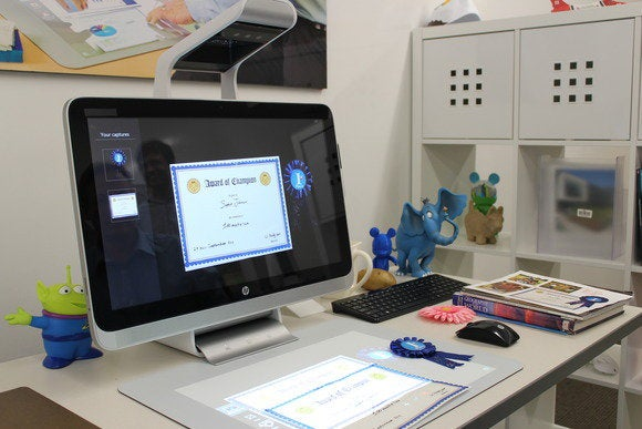 hp sprout scan certificate ribbon display oct 2014