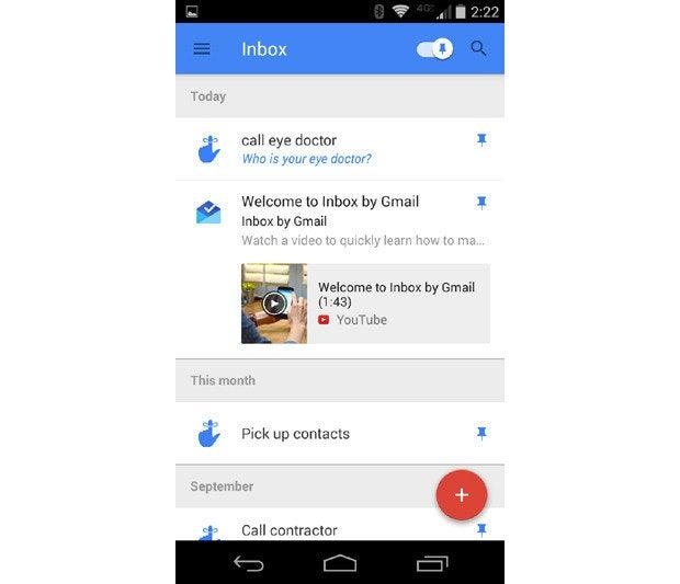Inbox Google Pinned