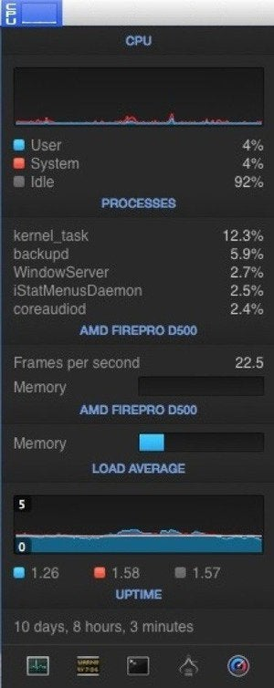 istat cpu menu bigger