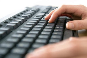 keyboard shortcuts primary user hands typing