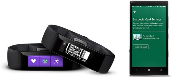 microsoft band starbucks