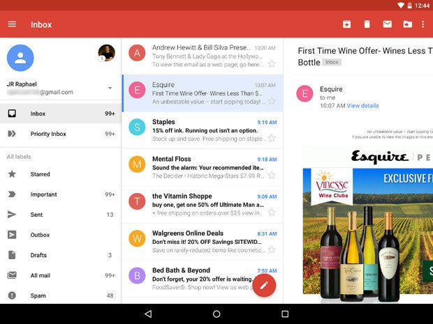 New Gmail App Android Lollipop Landscape (2)