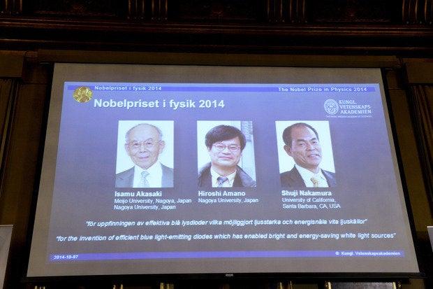 nobel prize physics 2014