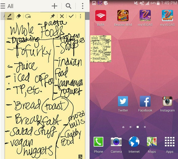 note4 stickies