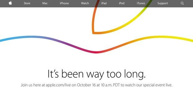 Apple Oct. 16 event webcast notice