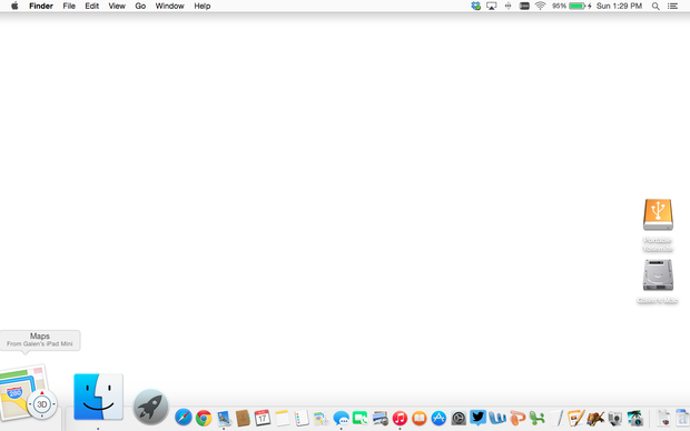 OS X Yosemite Handoff from Maps