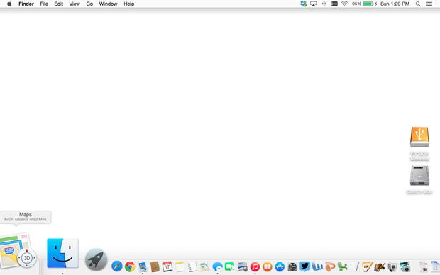 OS X Yosemite Handoff from Maps