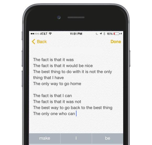 quicktype poetry the