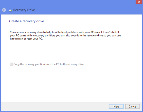 recovery drive 1
