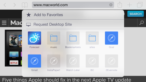 safari ios8 desktop sites