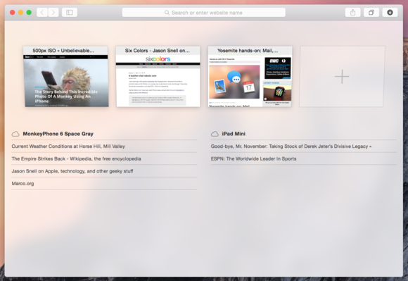 safari windows with translucency