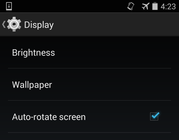 screen rotation