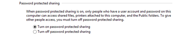 Password protected sharing.