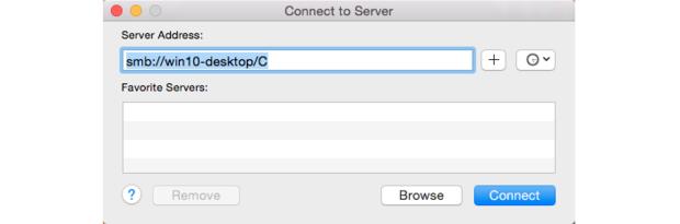 Enter Server Address