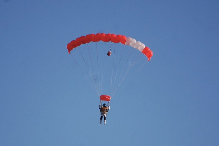 descent of a parachute essay How to use parachute in a sentence a device for slowing the descent of a person or object through the air that consists of a fabric canopy beneath which the person.