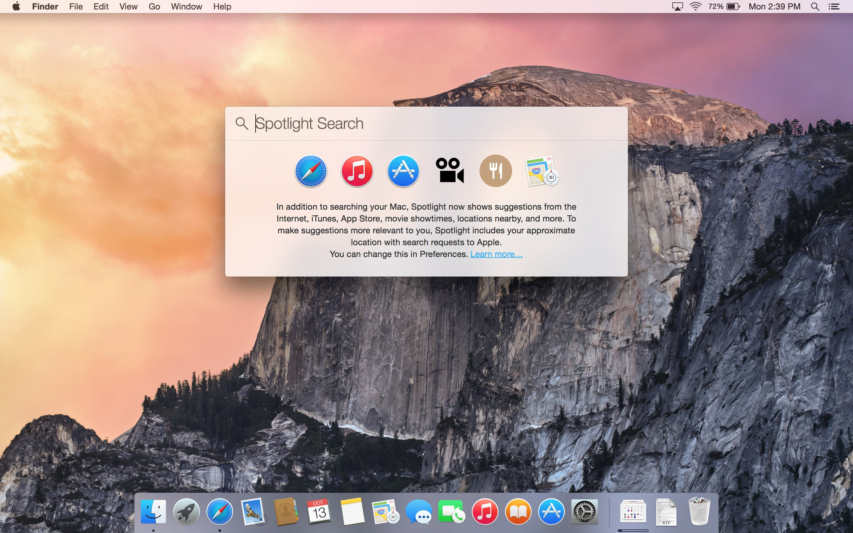 Os X Yosemite Spotlight Gets A New Look And Power To Search Beyond Your Mac Macworld