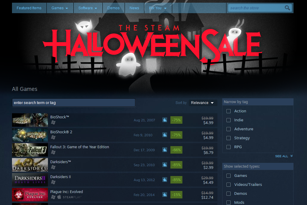 its not nearly as pretty nor as involved as your average steam sale but itll do