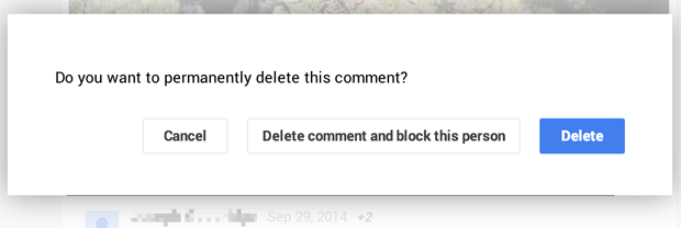 blocking a troll from a comment